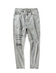 billige Herrebukser og -shorts-Herre Grunnleggende Jeans Bukser Geometrisk