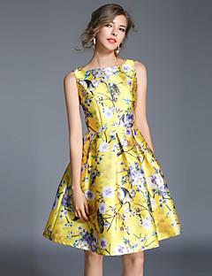 billige Minikjoler-Dame Vintage / Gade A-linje Kjole - Blomstret, Trykt mønster Mini