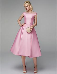 billiga Cocktailklänningar-A-linje Prydd med juveler Telång Tyll / Mikado Snörning Cocktailfest / Bal Klänning med Bandage av TS Couture®