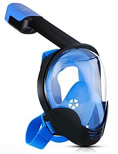 abordables Surf y Buceo-Buceo Máscaras Anti vaho, Máscaras de Cara Completa, 180 grados Ventanilla Única - Natación, Buceo, Submarinismo ordenador personal, Gel de sílice - para Adultos Negro / Naranja / Azul