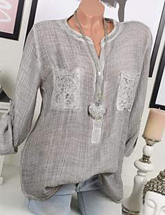 billige Bluse-Dame - Ensfarvet I-byen-tøj Bluse