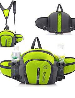 billiga Ryggsäckar och väskor-6+3 L Magväska / Midjeväska - Regnsäker, Torkar snabbt, Bärbar Utomhus Camping, Resor Nylon Röd, Grön, Blå