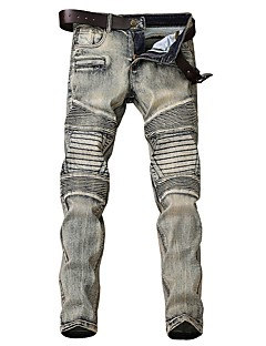 billige Herrebukser og -shorts-Herre Gatemote Jeans Bukser Stripet