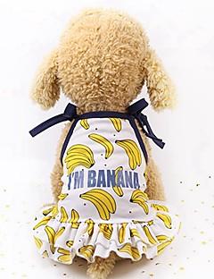 billiga Hundkläder-Hund / Katt / Små pälsdjur Huvtröjor / Prydnader / 셔츠 Hundkläder Frukt Guld / Gul / Rosa Nät Kostym För husdjur Dam Sport och utomhus / Ledig / Sportig