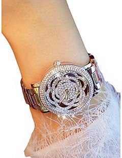 billige Blomster-ure-Dame Armbåndsur Quartz Kronograf Selvlysende Afslappet Ur Legering Bånd Analog Blomst Elegant Sølv / Guld - Guld Sølv / Imiteret Diamant