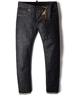 billige Herrebukser og -shorts-Herre Grunnleggende Jeans / Chinos Bukser Ensfarget