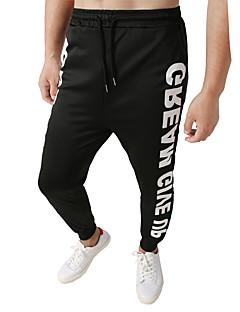 billige Herrebukser og -shorts-Herre Grunnleggende / Gatemote Chinos / Joggebukser Bukser Bokstaver