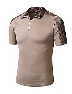 tanie Koszulki turystyczne-Męskie T-shirt turystyczny Na wolnym powietrzu Lato Szybkie wysychanie, Oddychalność, Zdatny do noszenia T-shirt Nie dotyczy Kemping i turystyka, Ćwiczenia na zewnątrz, Multisport Khaki