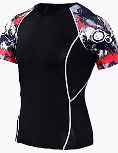 tanie Koszulki turystyczne-Męskie T-shirt turystyczny Na wolnym powietrzu Lekki, Szybkie wysychanie, Oddychalność Spandeks T-shirt N / Ćwiczenia na zewnątrz / Kemping / turystyka / eksploracja jaskiń / Fitness