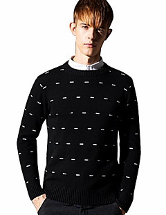 baratos Suéteres & Cardigans Masculinos-Homens Básico Pulôver - Geométrica