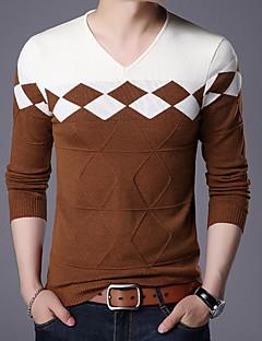 tanie Męskie swetry i swetry rozpinane-Męskie Podstawowy Szczupła Pulower Wielokolorowa Długi rękaw