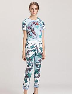 billige AW 18 Trends-Dame Grunnleggende / Sofistikert Bluse Bukse Geometrisk