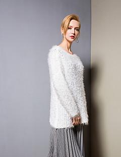 billige Kvinner Gensere-Dame Aktiv Pullover - Ensfarget