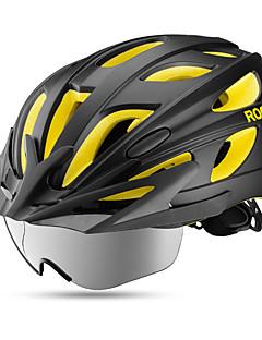 billiga Cykling-ROCKBROS Vuxna cykelhjälm 18 Ventiler EPS, PC sporter Cykling / Cykel - Mörkblå / Röd / Svart / Guld Herr / Dam