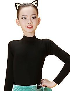 tanie Dziecięca odzież do tańca-Taniec latynoamerykański Topy Damskie / Dla dziewczynek Szkolenie Modalny Materiały łączone Długi rękaw Naturalny Top