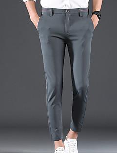 billige Herrebukser og -shorts-Herre Grunnleggende Dressbukser Bukser Ensfarget