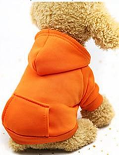billiga Hundkläder-Hund / Katt / Små pälsdjur Huvtröjor / Tröja / Outfits Hundkläder Enfärgad Kaffe / Röd / Rosa Cotton Kostym För husdjur Dam Sport och utomhus / Ledig / Sportig