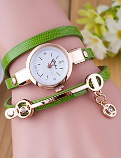 billige Armbåndsure-Dame Armbåndsur Quartz Afslappet Ur Læder Bånd Analog Mode Sort / Hvid / Blåt - Grøn Blå Mørkegrøn