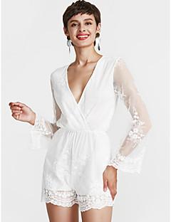 Χαμηλού Κόστους DREAMY LAND-Γυναικεία Κομψό στυλ street Θήκη Φόρεμα - Μονόχρωμο Πάνω από το Γόνατο Λαιμόκοψη V