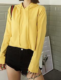 baratos Moletons com Capuz e Sem Capuz Femininos-Mulheres Básico activewear Set Sólido