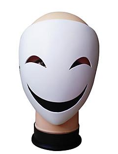billige Halloweenutstyr-Cookie Anime Maske / Halloween Utstyr Tegneserie / Cosplay Hvit Harpiks Cosplay-tilbehør Halloween / Maskerade kostymer