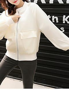 Χαμηλού Κόστους Γυναικεία σπορ σακάκια και μπουφάν-Γυναικεία Σακάκι Βασικό - Μονόχρωμο