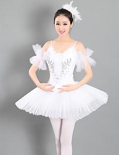billige Ballettantrekk-Ballet Kjoler Dame Ytelse Spandex Ruchiing Ermeløs Tutuer