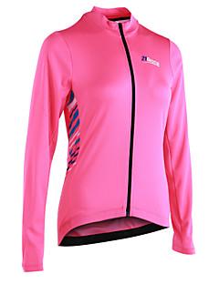 billige Sykkelklær-Dame Heldekkende våtdrakt - Rosa Sykkel Jersey, Refleksbånd / YKK-glidelås