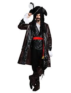 billige Halloweenkostymer-Pirates of the Caribbean / Pirat Drakter Herre Halloween / Karneval / Barnas Dag Festival / høytid Halloween-kostymer Brun Ensfarget / Halloween Halloween