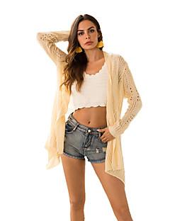 baratos Suéteres de Mulher-cardigan solta de manga longa de fim de semana feminino - suporte colorido sólido