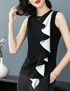 Χαμηλού Κόστους Μπλούζα-Γυναικεία Μπλούζα Βασικό / Κομψό στυλ street Συνδυασμός Χρωμάτων Ασπρόμαυρο