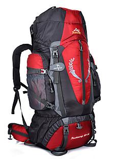 billiga Ryggsäckar och väskor-80+5 L Ryggsäckar / Ryggsäck - Regnsäker, Bärbar, Mateial som andas Utomhus Camping, Klättring, Resor Nylon Grön, Blå, Mörk Marin
