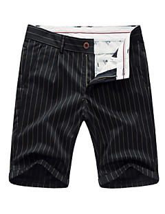 billige Herrebukser og -shorts-Herre Aktiv Chinos Bukser Stripet