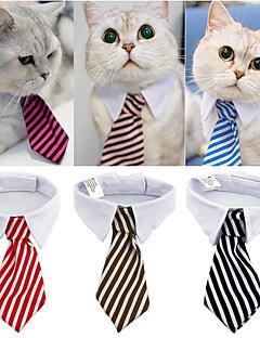 billiga Hundkläder-Hund / Katt Knyta / Fluga Hundkläder Randig Röd / Blå / Rosa 100% Polyester Kostym För husdjur Herr Klassisk / Bröllop