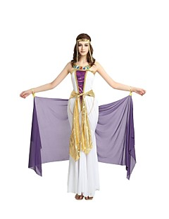 billige Voksenkostymer-Egyptiske Kostymer Kostume Dame Voksen Videregående skole Halloween Halloween Karneval Maskerade Festival / høytid Halloween-kostymer Drakter Lilla Ensfarget Halloween