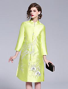 Χαμηλού Κόστους Βίντατζ Βασίλισσα-Γυναικεία Βίντατζ / Κινεζικό στυλ Γραμμή Α Φόρεμα Κεντητό Μίντι