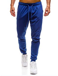 billige Herrebukser og -shorts-Herre Grunnleggende Bomull Tynn Chinos / Joggebukser Bukser - Ensfarget Mørkegrå