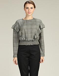 billige Skjorte-Dame - Houndstooth mønster Forretning / Gade Skjorte