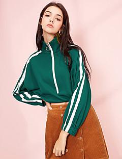 baratos Moletons com Capuz e Sem Capuz Femininos-Mulheres Básico activewear Set Sólido / Estampa Colorida