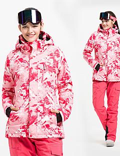 abordables Ski & Snowboard-Femme Veste & Pantalons de Ski Pare-vent, Etanche, Garder au chaud Ski / Ski alpin Coton, Polyester Hiver Anorak fleece / Polaires / Pantalon de bavoir de neige Tenue de Ski