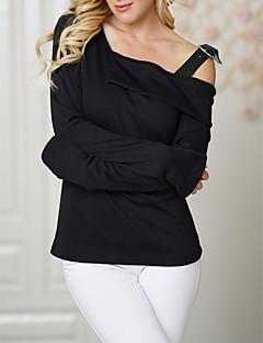 Félvállas Női Pamut Póló - Egyszínű 3f82a100f5