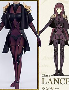 """billige Anime Kostymer-Inspirert av Skjebne / Grand Order Cosplay Anime  """"Cosplay-kostymer"""" Cosplay Klær Violer & Tyndere / Animé / Broderi N / A / Topp / Kjole Til Dame"""