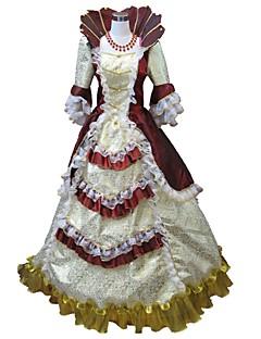 Χαμηλού Κόστους Κοστούμια μεταμφίεσης-Παραμυθιού / Santa Suits Αναγέννησης Στολές Γυναικεία Φορέματα / Σύνολα / Κοστούμι πάρτι Κόκκινο και Άσπρο / Κόκκινο+Χρυσαφί / Φούξια Πεπαλαιωμένο Cosplay Πολυεστέρας 3/4 Μήκος Μανικιού Μπαλούν