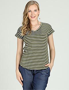 billige Dametopper-T-skjorte Dame - Stripet Aktiv / Grunnleggende