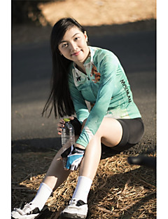 billige Sykkelklær-Mysenlan Dame Langermet Sykkeljersey med tights Sykkel Klessett, 3D Pute, Fort Tørring, Pustende Polyester, Spandex Rådyr