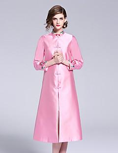 Χαμηλού Κόστους Βίντατζ Βασίλισσα-Γυναικεία Βίντατζ / Κινεζικό στυλ Γραμμή Α Φόρεμα - Φλοράλ, Κεντητό Μίντι
