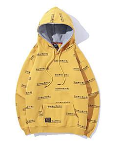 baratos Abrigos e Moletons Masculinos-homens saindo de manga longa slim hoodie - carta com capuz