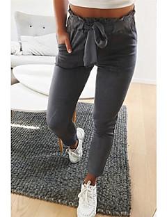baratos Leggings para Mulheres-Mulheres Diário / Para Noite Esportivo / Básico Legging - Sólido Cintura Média