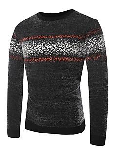 tanie Męskie swetry i swetry rozpinane-Męskie Wzornictwo chińskie Okrągły dekolt Luźna Pulower Wielokolorowa Długi rękaw