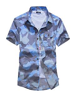 billige Herremote og klær-Skjorte Herre - Kamuflasje Grunnleggende